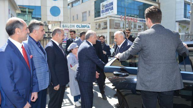 İstanbul Büyükşehir Belediye Başkan Adayı Sayın Binali Yıldırım Mutlusan'ı ziyaret etti,